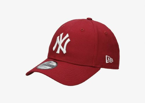 NEW ERA 9FORTY BASEBALL CAP.NEW YORK YANKEES MLB RED COTTON ADJUSTABLE HAT 9S1